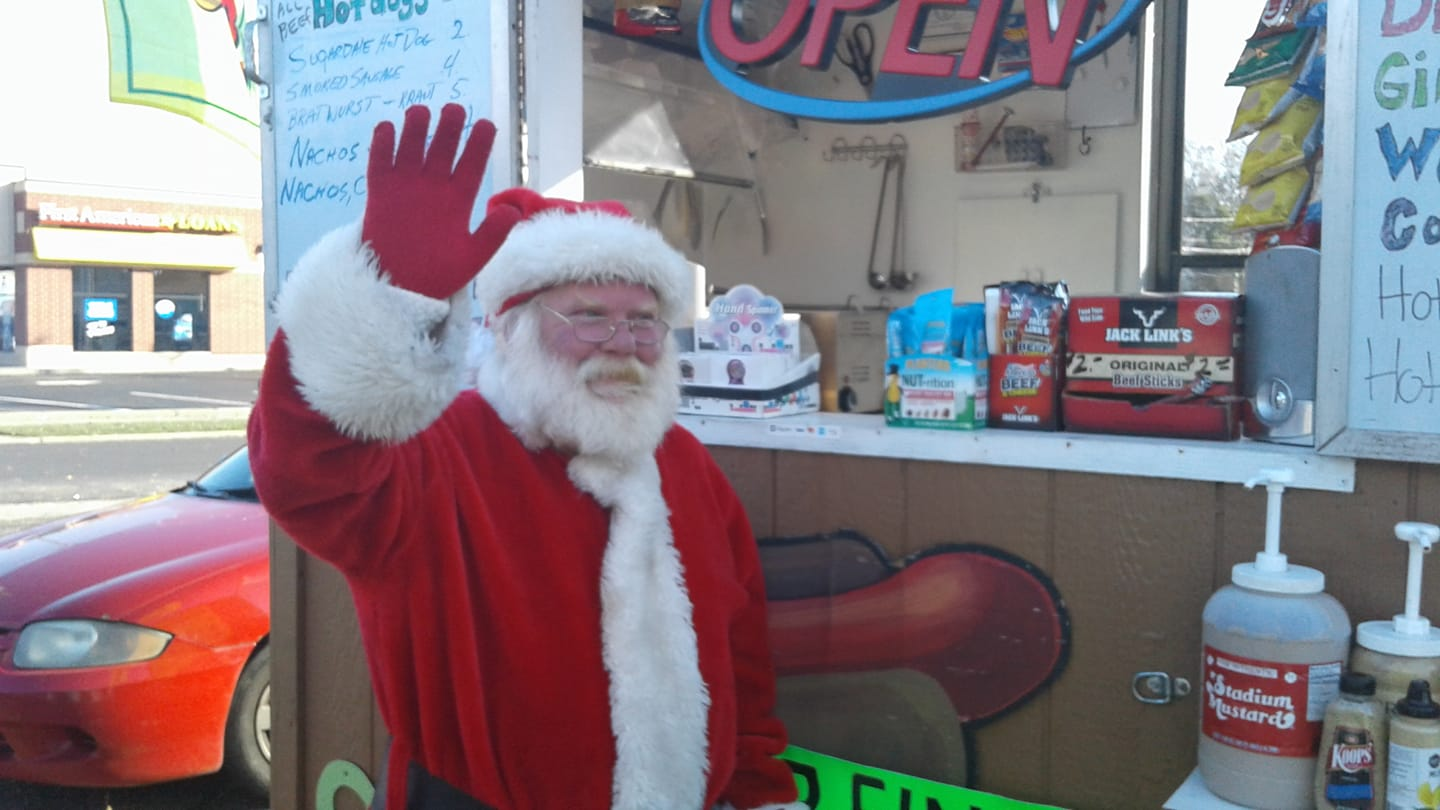 santa at towpath trail snack shack