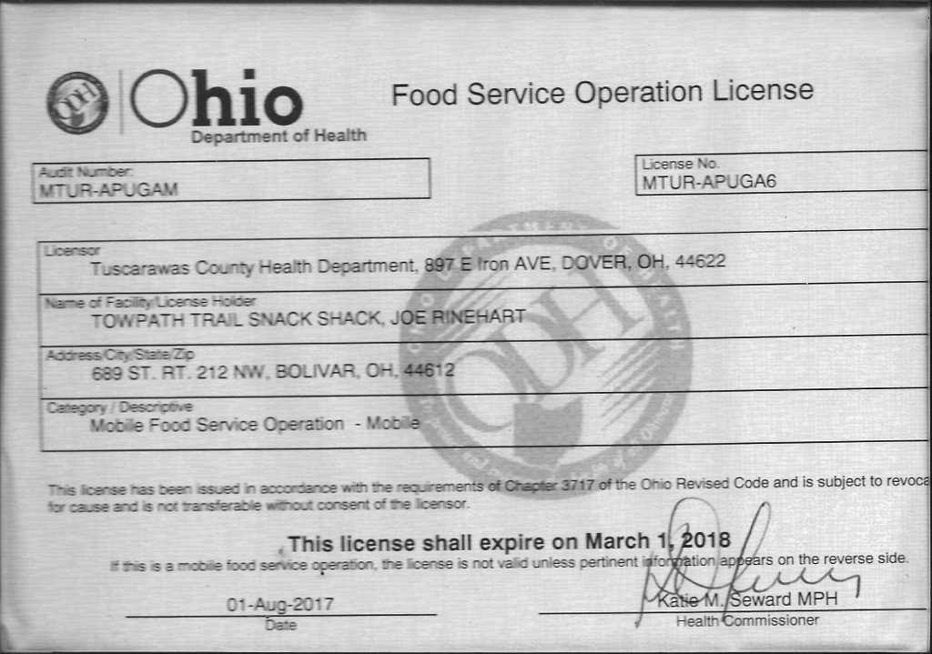 Food Service Operation License